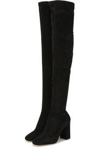 Замшевые ботфорты Jackie на устойчивом каблуке Dolce & Gabbana