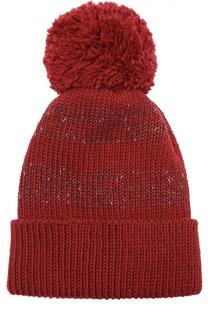Шерстяная шапка с помпоном 7II