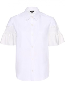 Блуза прямого кроя с шелковой отделкой Clu
