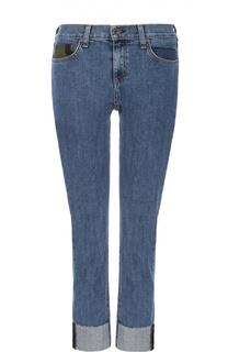 Укороченные джинсы-скинни с отворотами Rag&Bone Rag&Bone