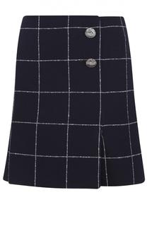 Шерстяная мини-юбка в клетку Balenciaga