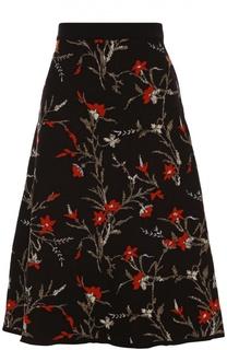 Вязаная юбка А-силуэта с цветочным принтом Balenciaga
