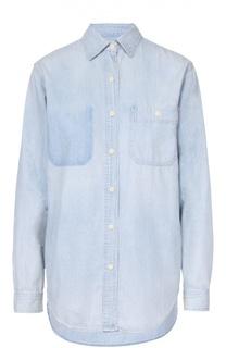 Джинсовая блуза прямого кроя с накладным карманом Denim&Supply by Ralph Lauren
