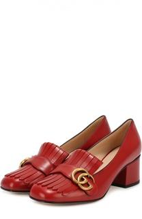 Кожаные туфли Marmont с пряжкой Gucci