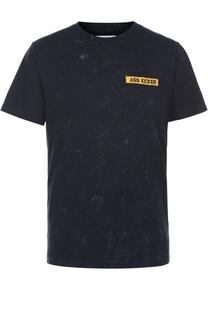 Хлопковая футболка с принтом на спине Elevenparis