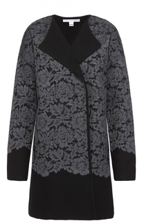 Пальто прямого кроя с кружевной отделкой и спущенным рукавом Diane Von Furstenberg