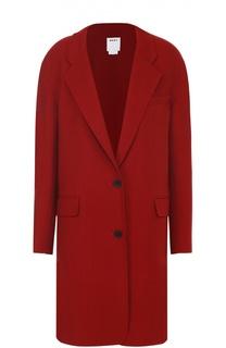 Пальто прямого кроя с широкими лацканами DKNY