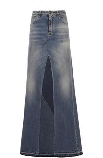 Джинсовая юбка-макси А-силуэта Roberto Cavalli