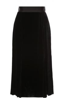 Бархатная юбка-миди с широким поясом Dolce & Gabbana