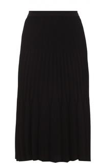 Плиссированная юбка-миди BOSS