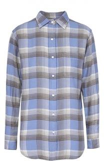 Хлопковая блуза в клетку с накладным карманом Denim&Supply by Ralph Lauren