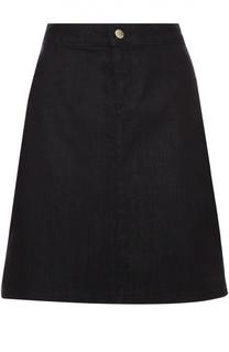 Джинсовая мини-юбка А-силуэта BOSS