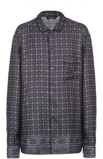 Шелковая ночная сорочка с вышивкой Dolce & Gabbana