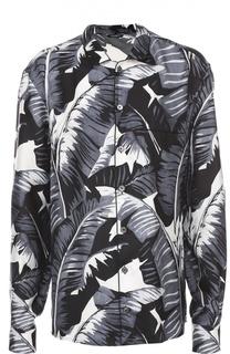 Шелковая сорочка с принтом Dolce & Gabbana
