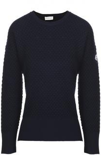 Пуловер с фактурной отделкой и разрезами Moncler