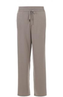 Кашемировые брюки прямого кроя с эластичным поясом Cruciani