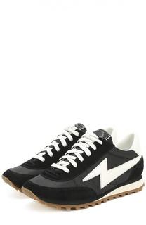 Комбинированные кроссовки с контрастной шнуровкой Marc Jacobs