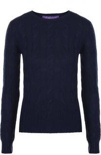Приталенный кашемировый пуловер фактурной вязки Ralph Lauren