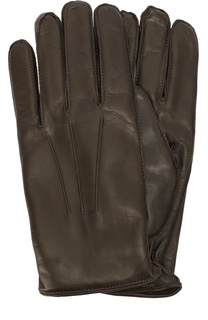 Кожаные перчатки с кашемировой подкладкой Dolce & Gabbana