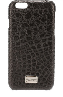 Чехол для iPhone 6/6S из кожи крокодила Dolce & Gabbana