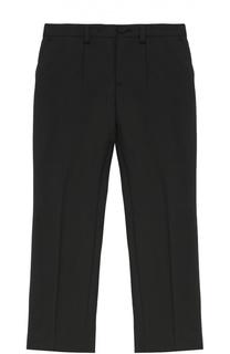 Шерстяные брюки прямого кроя Dolce & Gabbana