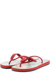 Резиновые шлепанцы Tian с принтом Gucci