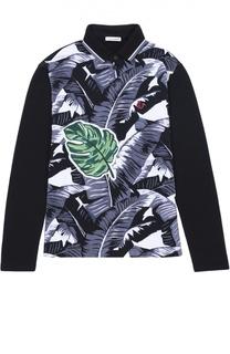 Хлопковое поло с длинными рукавами Dolce & Gabbana