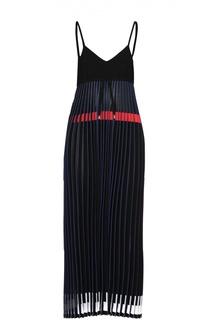Платье-макси с завышенной талией и плиссированной юбкой MRZ
