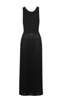 Приталенное платье-макси с плиссированной юбкой MRZ