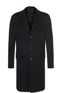 Однобортное пальто из шерсти викуньи Brioni