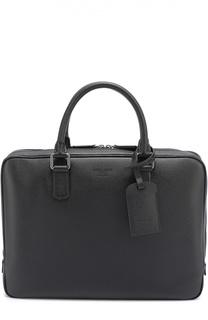 Кожаная сумка для ноутбука Giorgio Armani