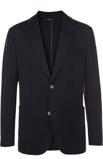Однобортный пиджак из смеси шелка и хлопка Brioni