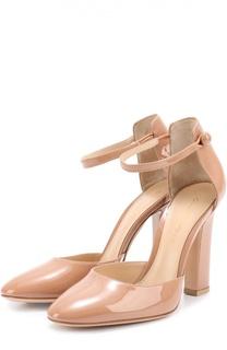 Лаковые туфли 54 с ремешком на щиколотке Gianvito Rossi