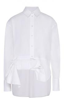 Хлопковая блуза прямого кроя с декоративной отделкой Victoria by Victoria Beckham
