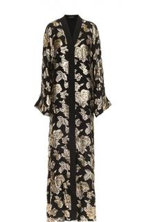 Абайя с металлизированной цветочной отделкой Dolce & Gabbana