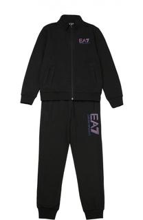 Хлопковый спортивный костюм Ea 7