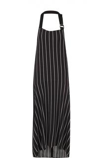 Платье-макси в контрастную полоску с открытой спиной Balenciaga