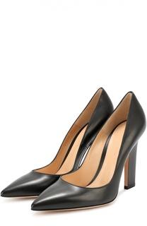 Кожаные туфли с зауженным мысом Gianvito Rossi