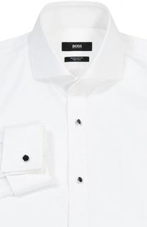 Хлопковая сорочка под смокинг BOSS