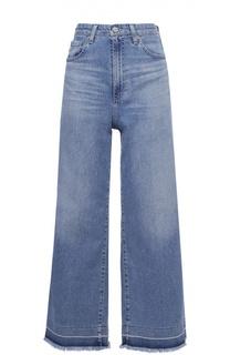 Укороченные расклешенные джинсы с завышенной талией Ag