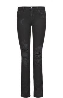Расклешенные джинсы с декоративными потертостями J Brand