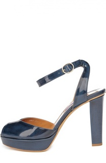 Лаковые босоножки Vesper на устойчивом каблуке Ralph Lauren
