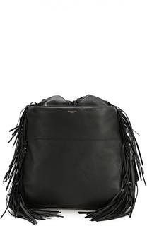 Кожаный рюкзак с декоративной бахромой Givenchy