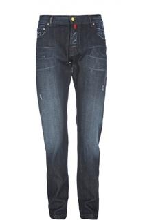 Узкие джинсы с потертостями Kiton
