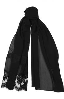 Шелковый шарф с кружевом Dolce & Gabbana