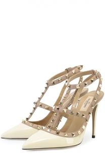 Лаковые туфли Rockstud с ремешками на шпильке Valentino