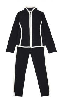 Спортивный костюм с контрастной отделкой Moncler Enfant