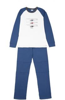 Хлопковая пижама с принтом Grigioperla