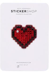 Стикер Heart Diamante из замши Anya Hindmarch