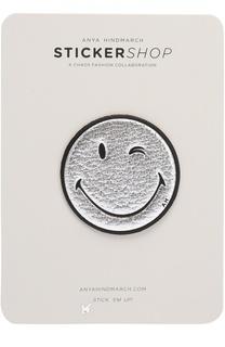 Кожаный стикер Wink Smiley Anya Hindmarch